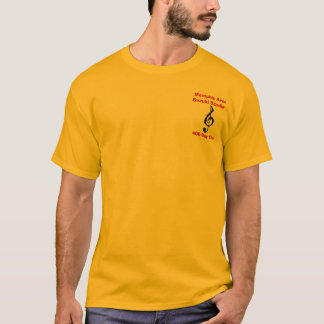 Camiseta 400-Day clube, ouro/vermelho