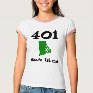 Camiseta 401, código de área de Rhode - ilha