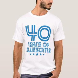 Camiseta 40 anos de aniversário de 40 anos impressionante