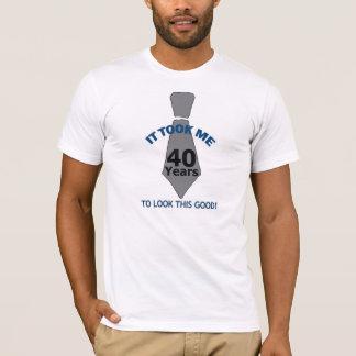 Camiseta 40 anos de t-shirt velho
