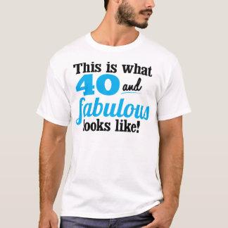 Camiseta 40 e fabuloso
