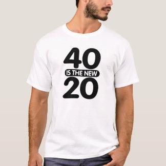 Camiseta 40 são os 20 novos