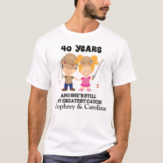 Camiseta 40th Presente feito sob encomenda do aniversário
