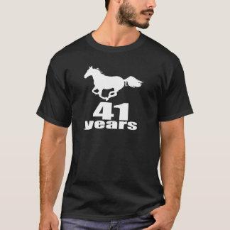 Camiseta 41 anos de design do aniversário
