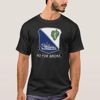 Camiseta 442nd Regimento de infantaria - vá para quebrou