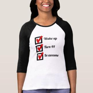 Camiseta 44a lista de verificação impressionante do