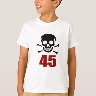 Camiseta 45 designs do aniversário