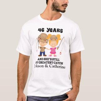 Camiseta 46th Presente feito sob encomenda do aniversário