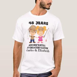 Camiseta 48th Presente feito sob encomenda do aniversário