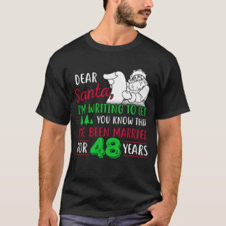 Camiseta 48th Tshirt do Natal, presente do divertimento