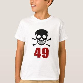 Camiseta 49 designs do aniversário