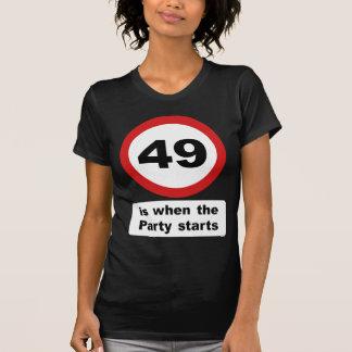Camiseta 49 são quando o partido começa