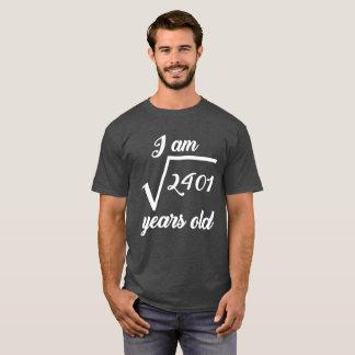 Camiseta 49th T-shirt da raiz quadrada do aniversário