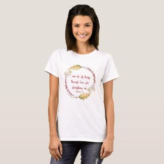 Camiseta 4:13 dos Philippians - eu posso fazer todas as
