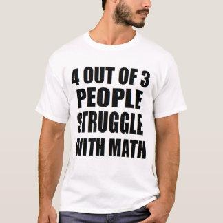 Camiseta 4 de 3 pessoas esforce-se com o nerd da matemática