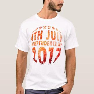 Camiseta 4 de julho & círculo do Dia da Independência