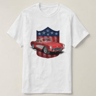 Camiseta 4 de julho grande t-shirt do americano 56-57