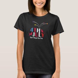 Camiseta 4 de julho o Dia da Independência Pets a