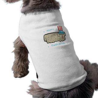 Camiseta 4 de julho o filhote de cachorro marcado do tanque