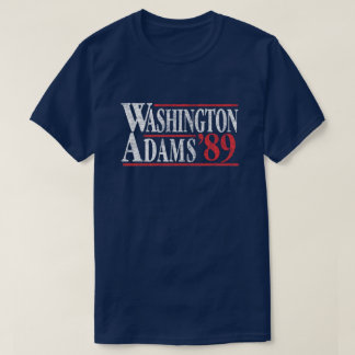 Camiseta 4 de julho t-shirt da campanha de Washington Adams