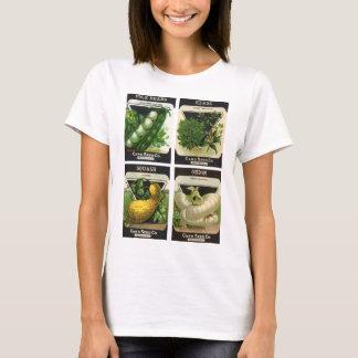 Camiseta 4 designs diferentes da arte da etiqueta do pacote
