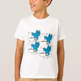 Camiseta 4 pássaros de chamada