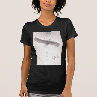 Camiseta 4' th da águia americana dos fogos-de-artifício de