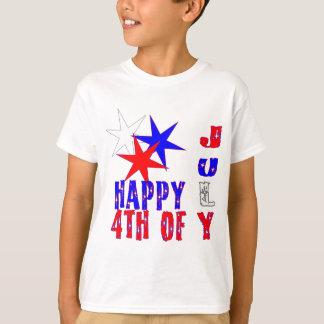 Camiseta 4o brilhante e colorido do design da celebração de