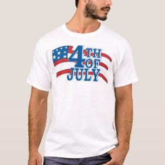 Camiseta 4o Da bandeira de julho