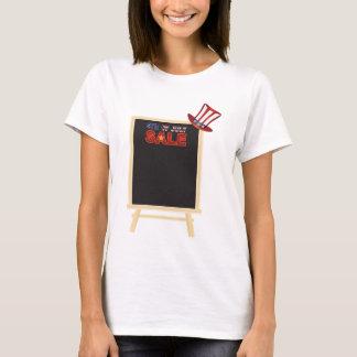 Camiseta 4o do conselho do sinal da VENDA de julho com