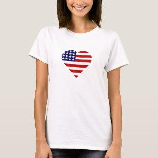 Camiseta 4o do coração de julho