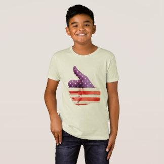 Camiseta 4o dos polegares da bandeira americana de julho