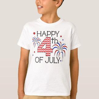Camiseta 4o feliz da juventude do t-shirt de julho