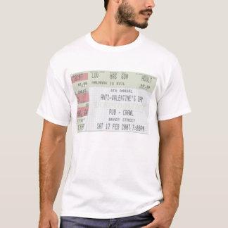 Camiseta 4o Rastejamento de bar anual do dia dos
