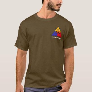 Camiseta 4o T longo da luva da divisão blindada