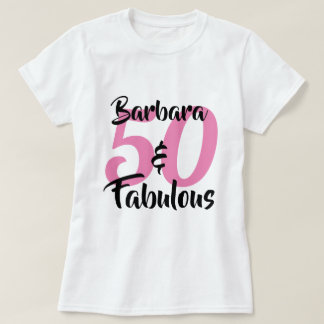 Camiseta 50 e festa de aniversário personalizada fabulosa