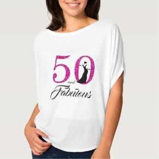 Camiseta 50 e presente de aniversário fabuloso