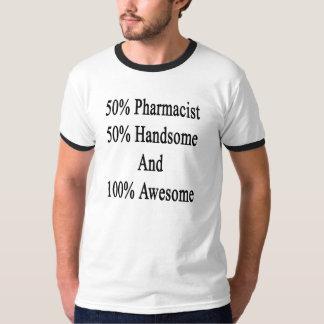 Camiseta 50 farmacêutico 50 considerável e 100