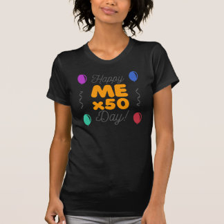Camiseta 50th aniversário feliz