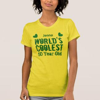 Camiseta 50th As pessoas de 50 anos as mais frescas W50B do