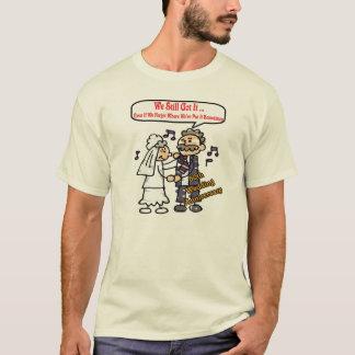Camiseta 50th T-shirt do aniversário de casamento