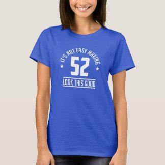 Camiseta 52 anos de gráfico velho do aniversário