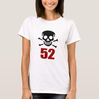 Camiseta 52 designs do aniversário