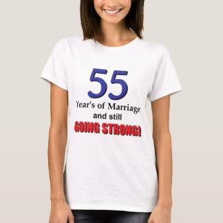 Camiseta 55th Aniversário de casamento