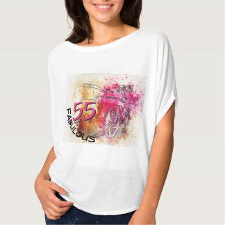 Camiseta 55th Respingo magenta da cor da tipografia | do