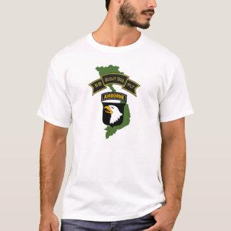Camiseta 58th T-shirt do pelotão 101ID do cão do escuteiro