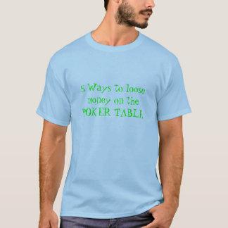 Camiseta 5 maneiras de afrouxar o dinheiro na MESA do
