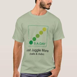 Camiseta 5 um o dia - apenas manipule mais