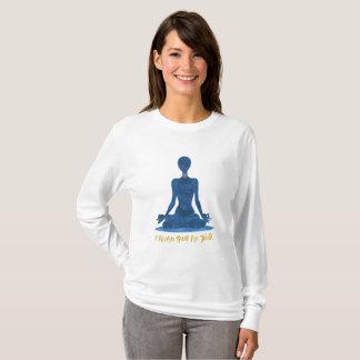 Camiseta 5o Afirmação do azul de Vishuddha da garganta de