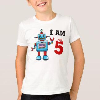 Camiseta 5o presente do menino do aniversário - robô